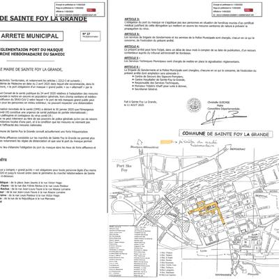 Le port du masque sur le marché de Sainte Foy la Grande sera obligatoire dès ce samedi.