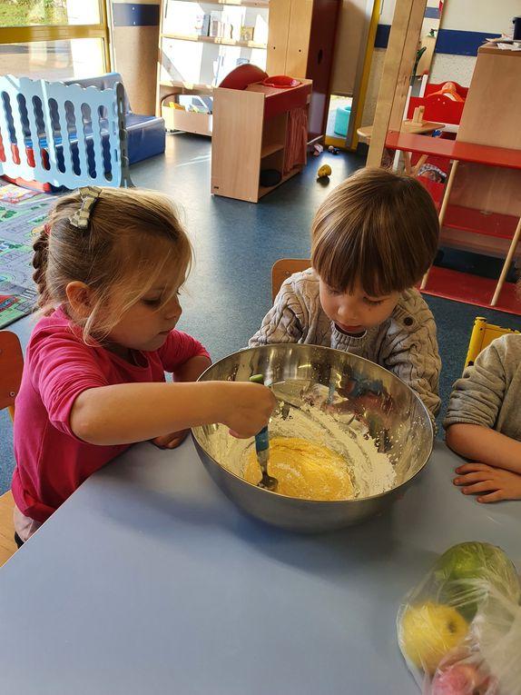 Ateliers pâtisserie pour la classe de petite section