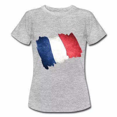 T shirt bleu blanc rouge Drapeau Français en dessin FGR