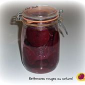 Conserves de betteraves rouges au naturel - Chez Vanda