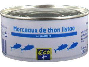 Bonite vendue uniquement en 1er prix ECO+ (E.Leclerc), Pouce (Auchan), Top Budget (Intermarché), Carrefour Discount...