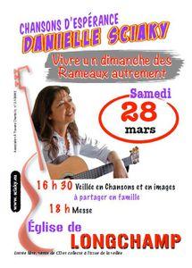 Vivre un dimanche des Rameaux autrement - avec Danielle Sciaky - samedi 28 mars 2015 à Longchamp