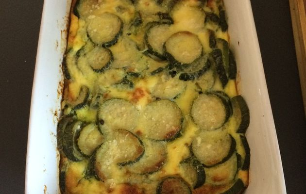 Flan de courgettes au parmesan - 2 sp Weight Watchers
