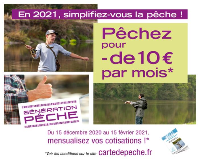 Les cartes de pêche 2021
