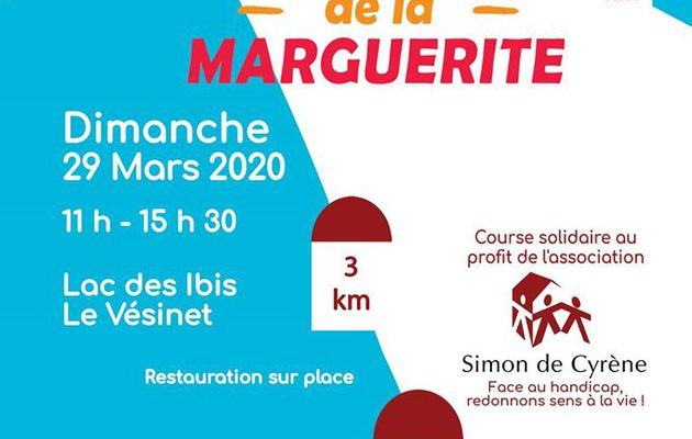 Save-the-date 29 mars 2020 Foulées de la Marguerite au Vésinet