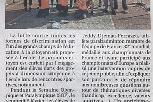 Article La Provence 15 février 2021 - Section Sportive Badminton
