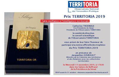Innovations  dans les territoires : Prix TERRITORIA 2019, ANTC, Revue de presse.