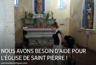 NOUS AVONS BESOIN D'AIDE POUR L'ÉGLISE DE SAINT PIERRE !