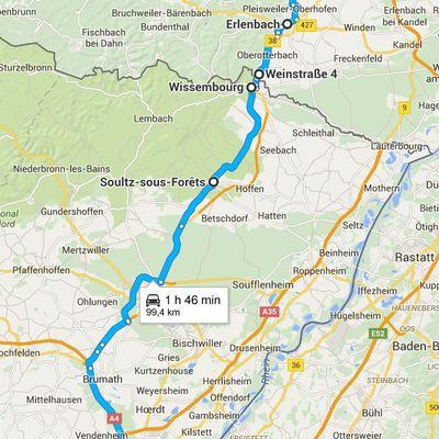 Goldwing - petite ballade dominicale dans l'Alsace du Nord