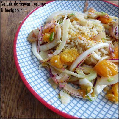 Salade de fenouil à l'orange et au boulghour