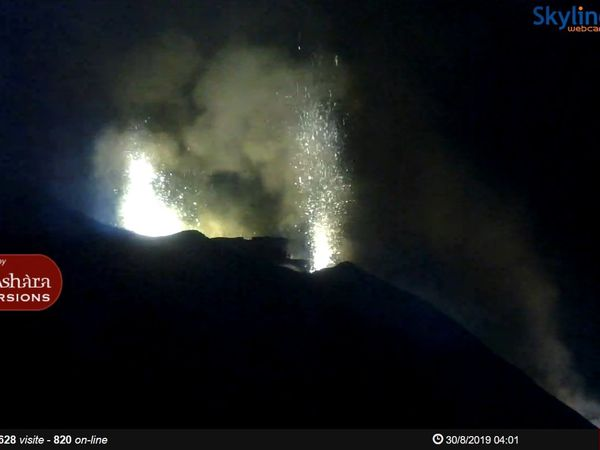 Stromboli - night activity 30.08.2019, at 02:32, 02:32 and 04:01 / Laboratorio di Geofisica Experimental & Skyline webcamsStromboli - night activity 30.08.2019, at 02:32, 02:32 and 04:01 / Laboratorio di Geofisica Experimental & Skyline webcams - one click to enlarge