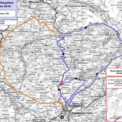 Départ d'Aurillac du Critérium du Dauphiné Libéré