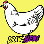 How to Draw Chickens & Hens with Easy Step by Step Drawing Tutorial - How to Draw Step by Step Drawing Tutorials