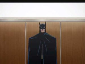 """Dammit, I need this elevator now !"" ""Shoo ! Shoo ! Go away Batgirl ! I want to make a dramatic entrance !"""