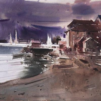 Stage d'aquarelle Avec Eugen Chisnicean du 16 au 19/08/2021 en immersion totale avec hébergement