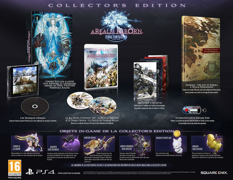 FF XIV A Realm Reborn version PS4 : date et collector