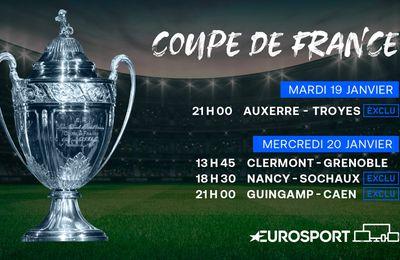 La Coupe de France de football de retour dès ce mardi sur Eurosport