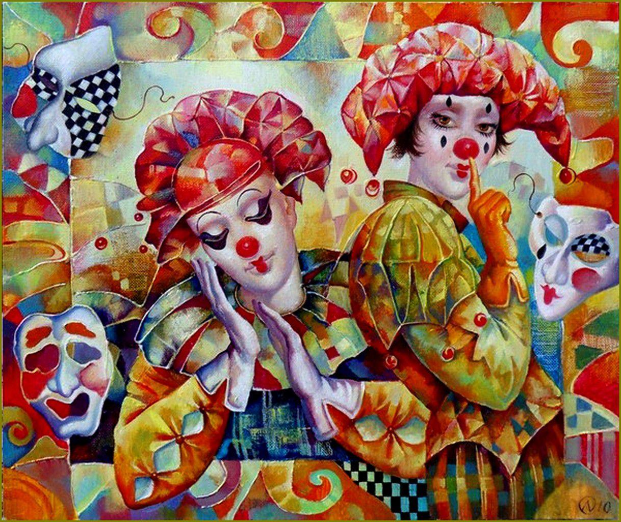 Masques - Carnaval - mardi-graspar les grands peintres-  Olga Naletova