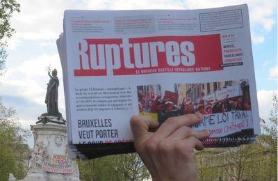 La prochaine édition de RUPTURES paraîtra le 28 octobre – Abonnez-vous vite !
