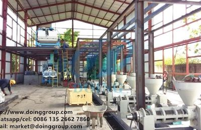 Sunflower oil processing machine with refining and dewaxing machine