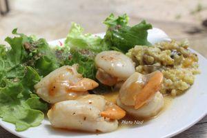 Assiette-Repas : St Jacques-Boulgour-Salade verte