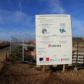 Chantier du barrage de la Gachère à Bretignolles sur Mer - La Gazette des Olonnes