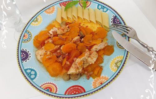 Sauté de poulet aux carottes