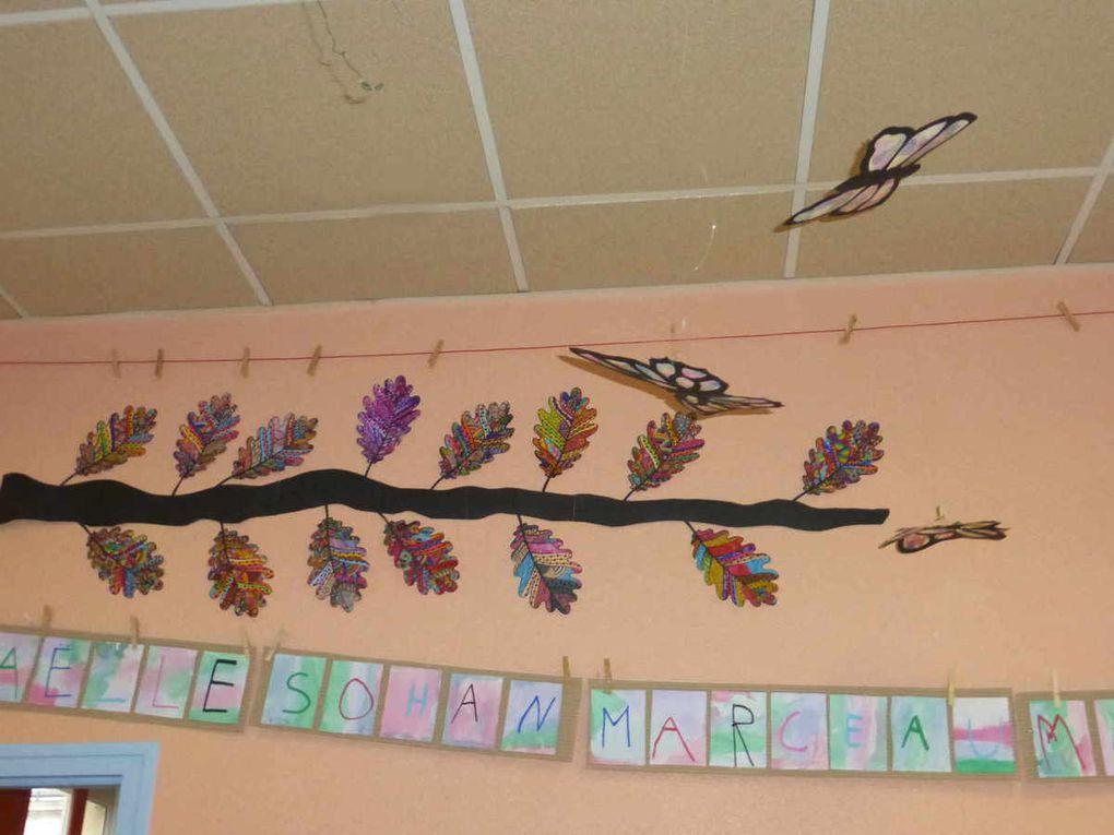 De beaux papillons dans la classe de Sabine