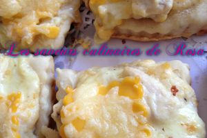 Minis pizzas blanches