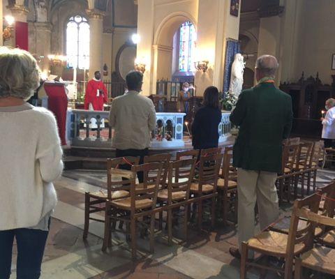 Retour sur la Pentecôte à Notre-dame-des-Victoires à Trouville.