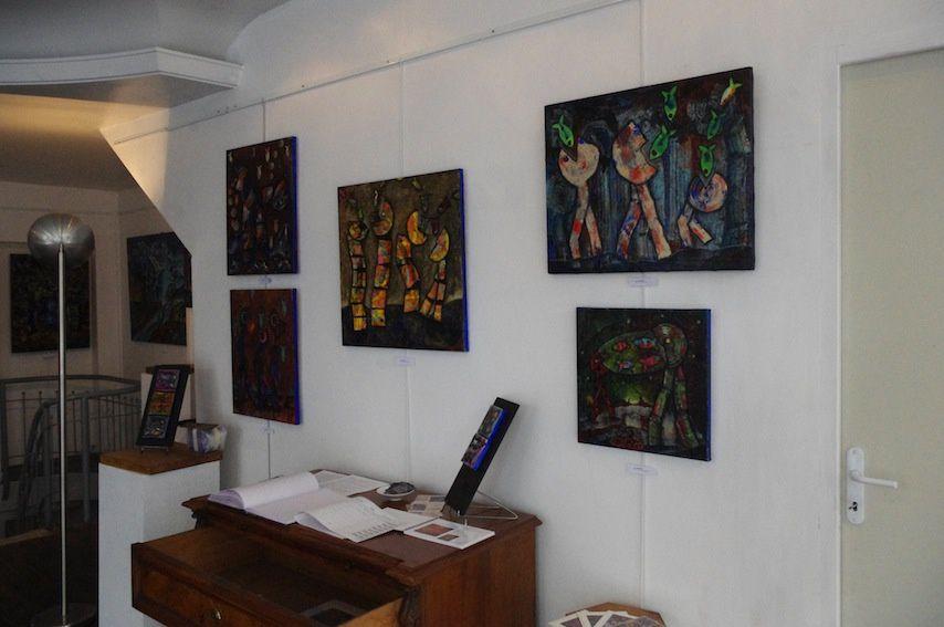Quelques images de ma précédente expo à la Galerie LB13, c'était en juin/juillet 2017.