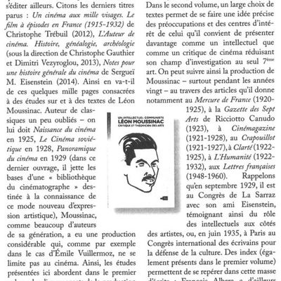 """Moussinac et Vuillermoz (""""Positif"""", avril 2016)"""