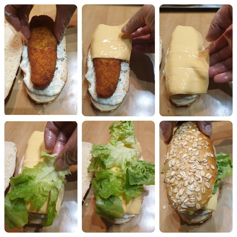 Fish burger maison