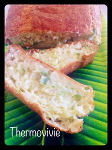 Cake crémeux chèvre courgette au thermomix
