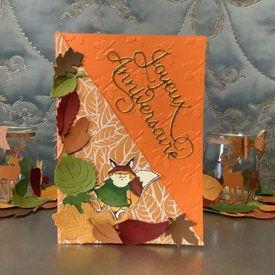 Carte d'anniversaire d'automne