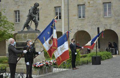 Commémoration de la victoire du 8 mai 1945 sur l'esplanade François-Mitterand à Quimper