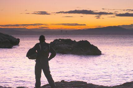 Photo 10 - Le motard et la mer