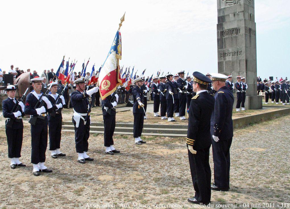 """Samedi 4 juin 2011,Cérémonie du souvenir à la mémoire de tous les marins disparus organisée par l'association """"Aux Marins"""" au Mémorial National des marins morts pour la France de la Pointe Saint Mathieu du Plougonvelin (1ère partie)"""