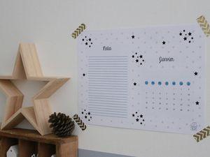 Calendrier de janvier à imprimer