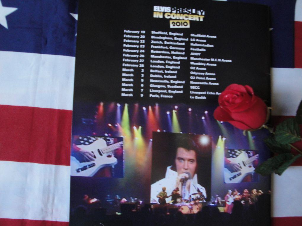 Programme du concert virtuel Elvis 9 Mars 2010
