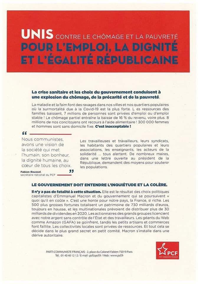 Samedi 5 décembre, à 11h, manifestations à Brest et Quimper pour la journée nationale de mobilisation contre le chômage et la précarité