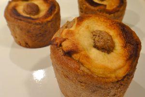 Muffins à la farine de châtaigne et à la pomme