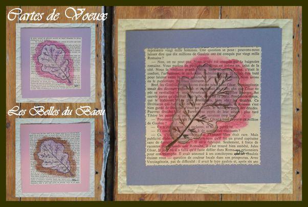 Symboles d'Amours et Amitiés solides comme le chêne : cartes de vœux, aquarelles pièces uniques