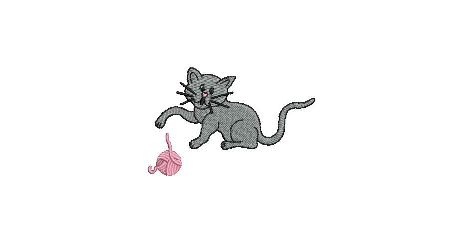 BRODERIE CHATON GRIS