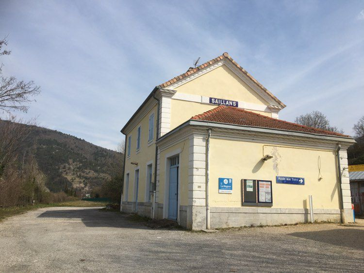 Saillans, la gare