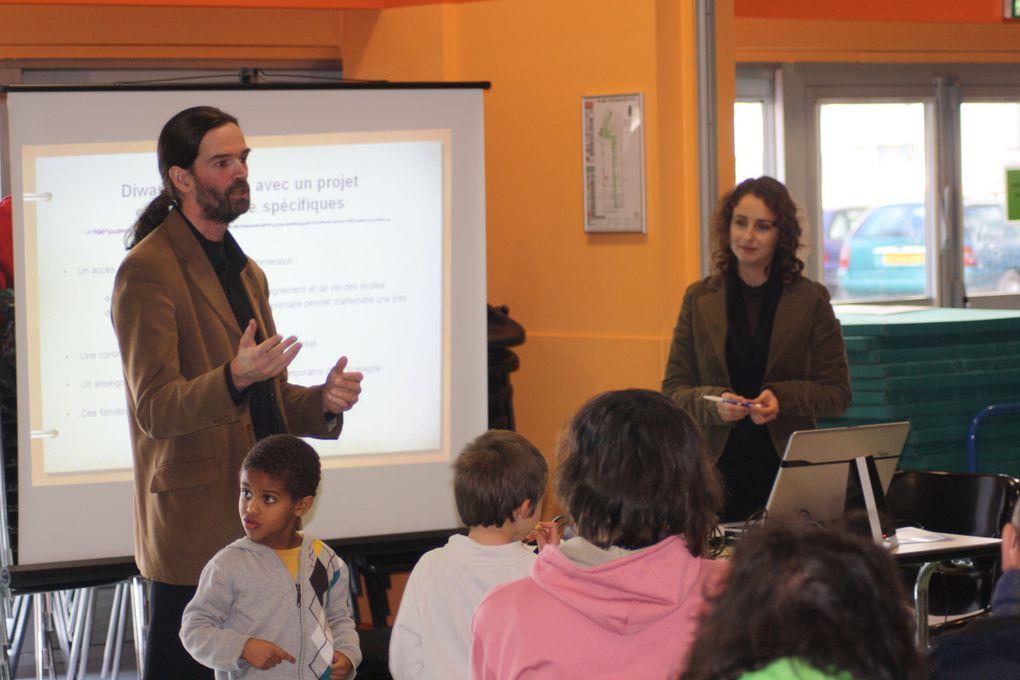Quelques photos prises pendant la réunion d'information du 12 janvier 2013 sur l'ouverture d'une nouvelle école primaire Diwan à Saint-Herblain à la rentrée 2013.
