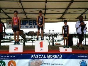 AQUATHLON DE VERTOU : 1 championne régionale, 1 vice-championne régionale et 3 podiums, TRIATHLON DE NOIRMOUTIER : 1 podium