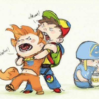 Kindergarten. Firefox vs. Chrome vs. IE