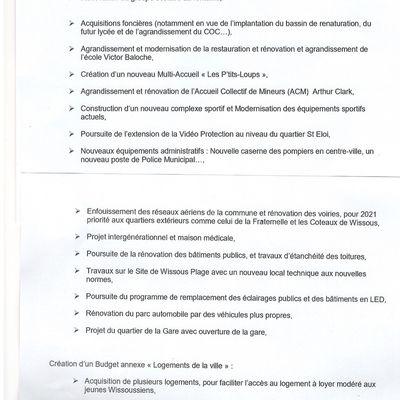 Compte rendu du conseil municipal de Wissous du 26 novembre 2020