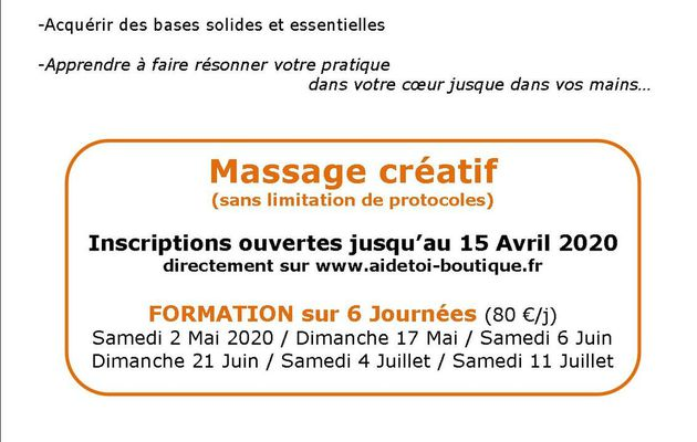 Formation Massage Instinctif avec Aldo Bourasseau à l'Aiguillon s/mer